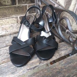 Coach And Four black heeled sandals size 7.5